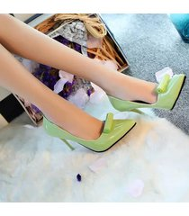 pp341 elegant pointy pumps in candy color with rolling top,us size 5.5-8, green
