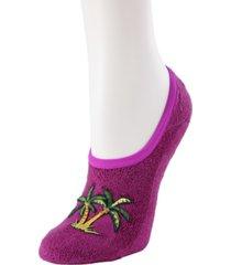 palm tree terry women's slipper socks