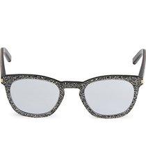 core 49mm glitter square sunglasses