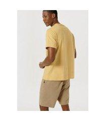 camiseta color block com bolso