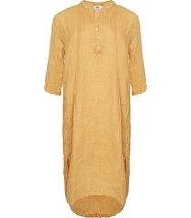 tiffany tiffany x lång linne skjortklänning senape, 18970
