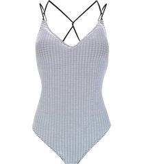 track & field trama 3d swimsuit - white