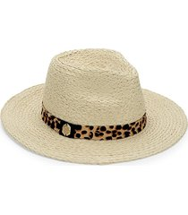 vince camuto women's pony hair-trimmed fedora