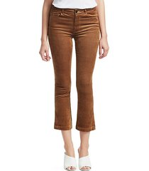 colette high-rise crop corduroy trousers
