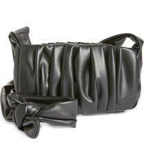 bp. ruched baguette crossbody bag in black at nordstrom