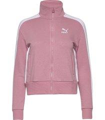 classics t7 track jacket ft sweat-shirt tröja rosa puma