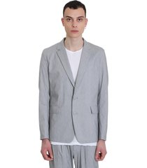 attachment blazer in grey cotton