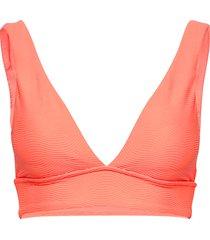 v neck crop top bikinitop oranje seafolly