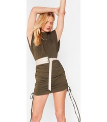 womens it's knot important faux leather circle belt - nude