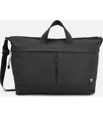 ps paul smith men's zebra logo canvas weekend bag - black