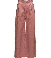 katie pleated trousers wijde broek roze filippa k