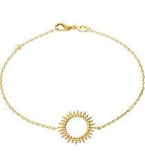 bracciale placcato oro con raggi di sole per donna