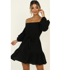 showpo getting it right the first time dress in black - 20 (xxxxl)