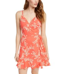 speechless juniors' surplice fit & flare dress, created for macy's