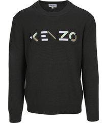 kenzo logo wool sweatshirt