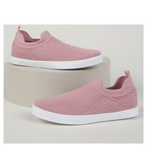 tênis meia feminino oneself cano baixo rosa