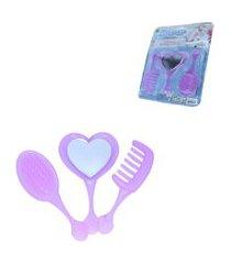 brinquedo infantil espelho, pente e escova – snow fashion – samba toys