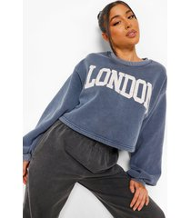 korte gebleekte london sweater, denim