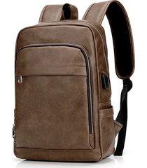 laptop vintage in ecopelle borsa zaino da viaggio spalla borsa per gli uomini
