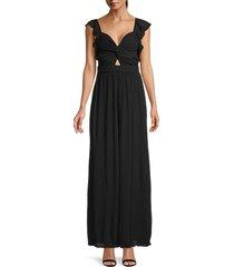 astr the label women's golden hour wide-leg jumpsuit - black - size xs