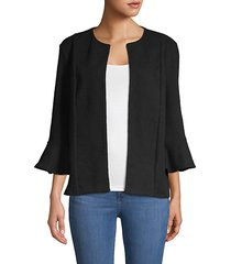 bell-sleeve open front jacket