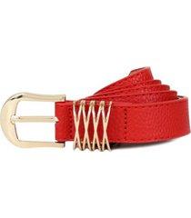 cinturon gema rojo carven