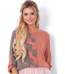 sweter dwukolorowy