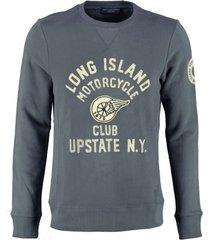 jack & jones zachte blauwe slim fit sweater