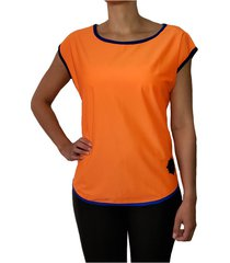 camiseta deportiva mujer naranja zanahoria tykhe gianna