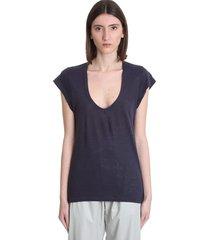 isabel marant étoile zankou t-shirt in blue linen