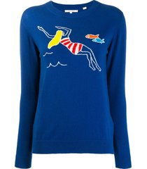 chinti and parker swimmer sweater - blue