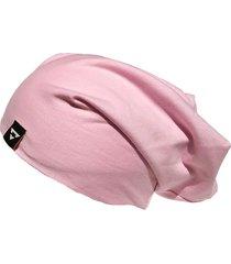 gorro beanie brohood malha rosa claro