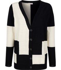vest alba moda zwart::offwhite