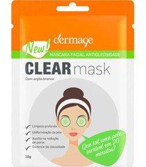 máscara facial dermage - clear mask 10g