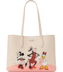 kate spade new york disney x kate spade new york all day large leather tote