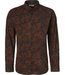 no excess shirt long sleeve all over printed rusty