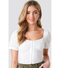 rut&circle bustier blouse - white