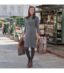 sundance catalog women's cashmere dream dress in hthrdrizzl xs