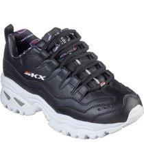zapatos mujer  energy-retro vision negro skechers