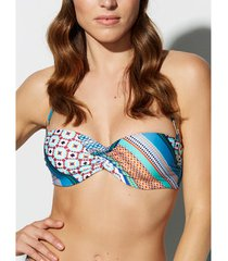 bikini selmark panuelo bandeau zwempak top mare vert
