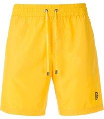 dolce & gabbana short de praia - amarelo