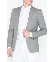 topman grey marl skinny fit suit jacket kavajer & kostymer grey