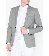 topman grey marl skinny fit suit jacket kavajer & kostymer grey