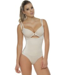 faja body con neolatex tipo tanga bodylinecontrol 1107t piel