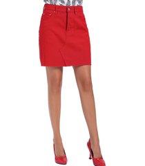 mini falda denim rojo nicopoly