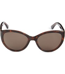 moschino women's 55mm cat eye sunglasses - havana