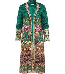 alice+olivia embroidered linda coat - green