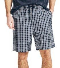 nautica men's gray plaid pajama shorts