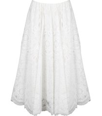 red valentino lace wheel skirt