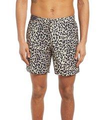 men's allsaints reserve swim shorts, size xx-large - beige